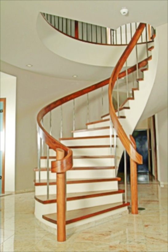 Detail how to build wood handrails for steps wepi Curved staircase design plans